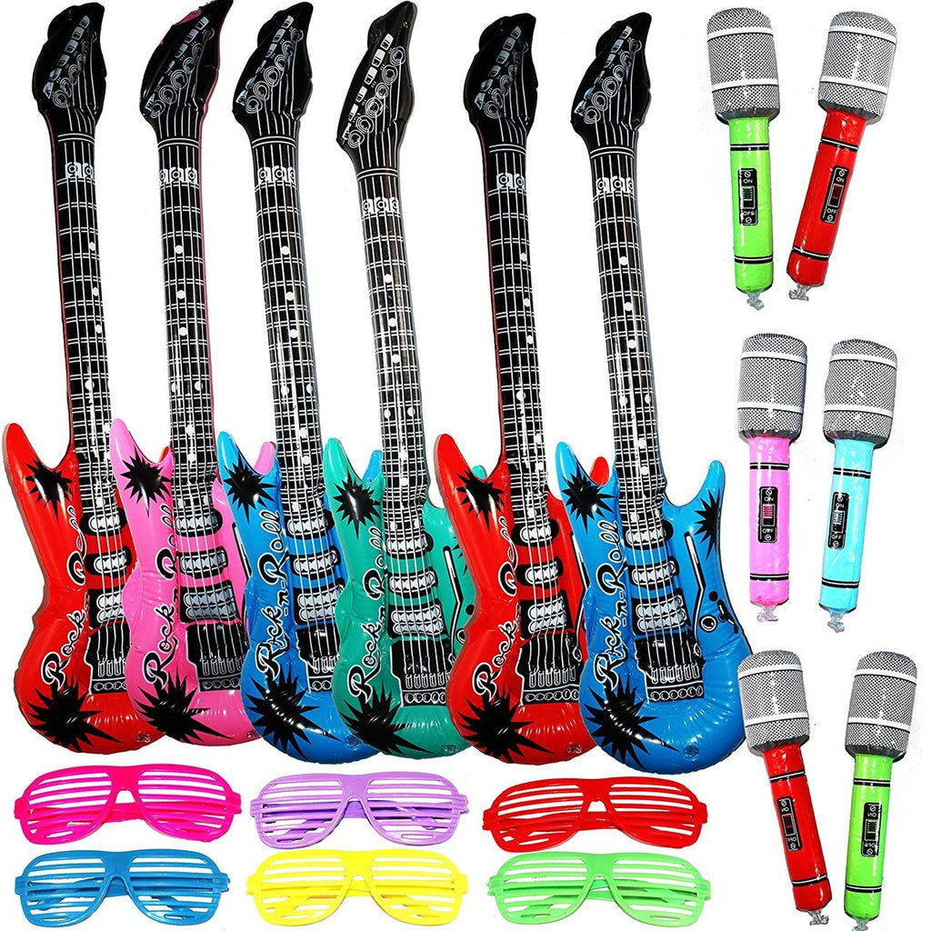 Inflatable Rockstar Party Pack, 12-Piece Set