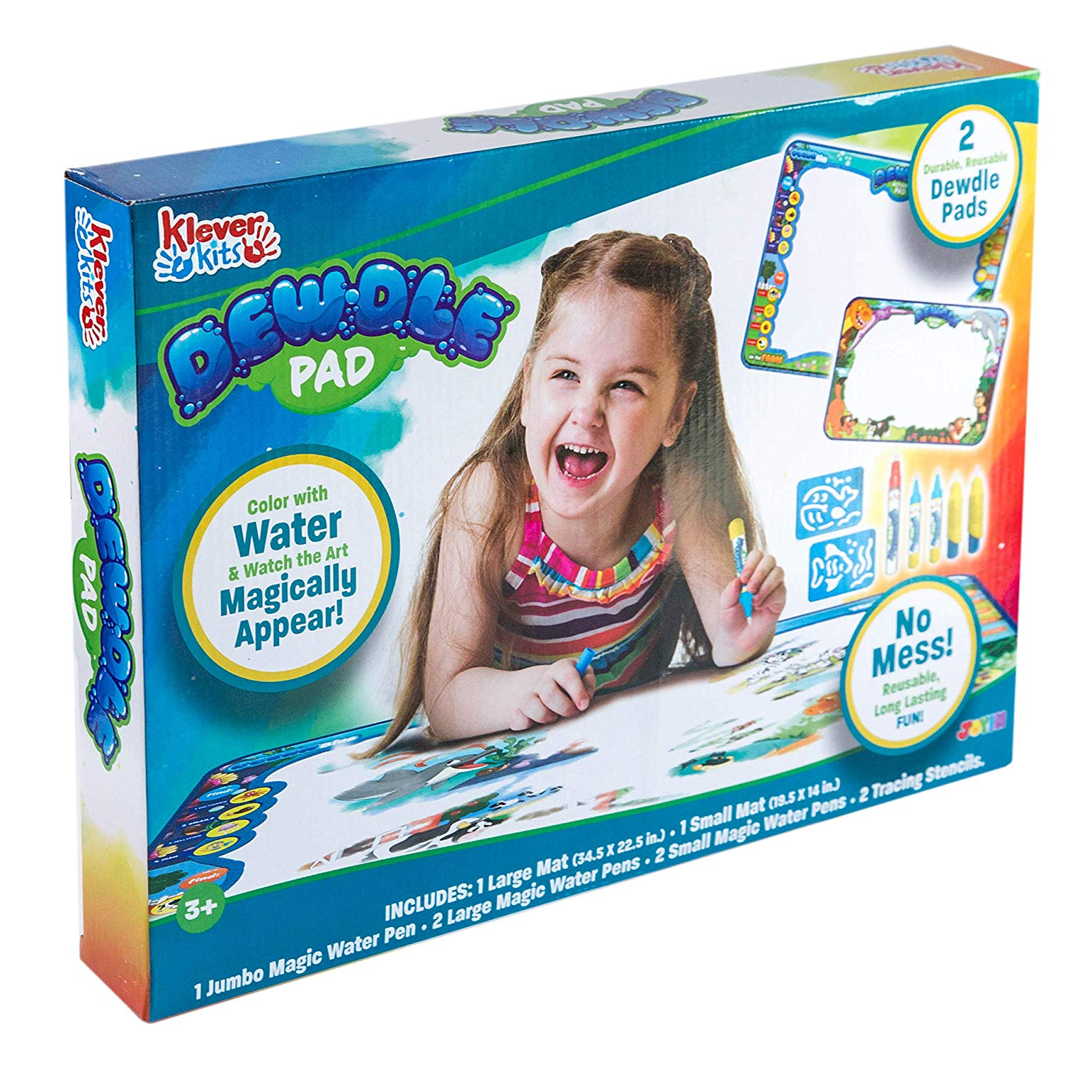 "Klever Kits Dewdle Pads Drawing Mats (35"" x 23""), 2-Pack"