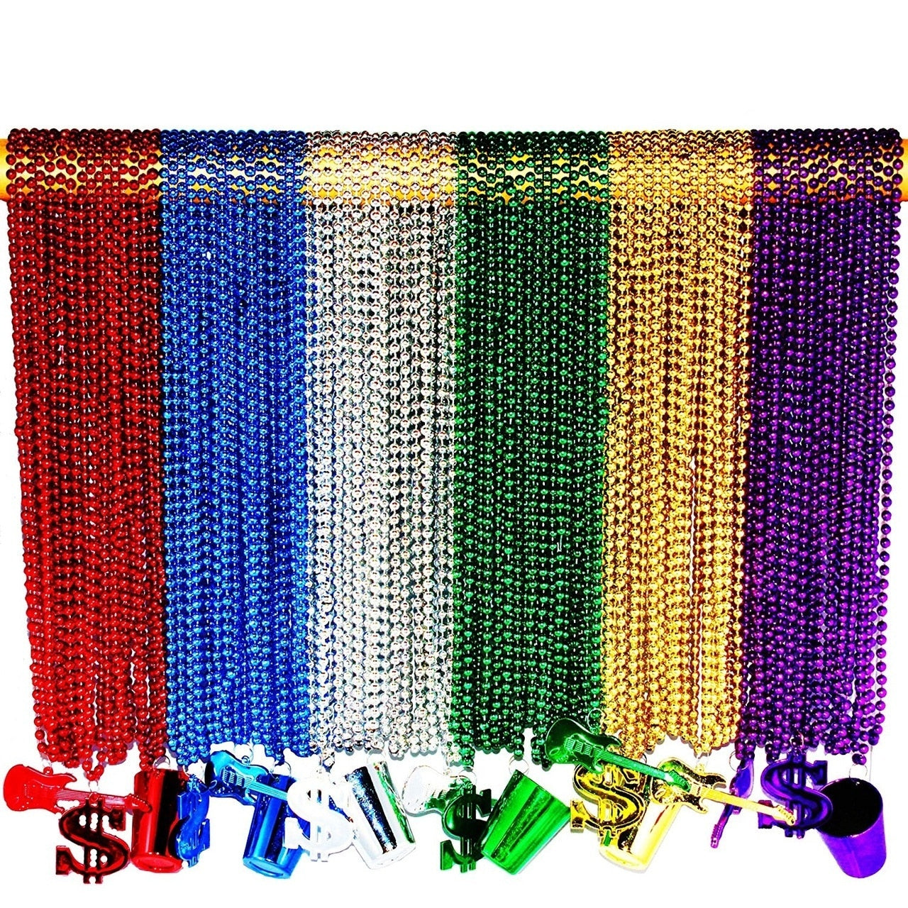 Mardi Gras Necklaces With Charms