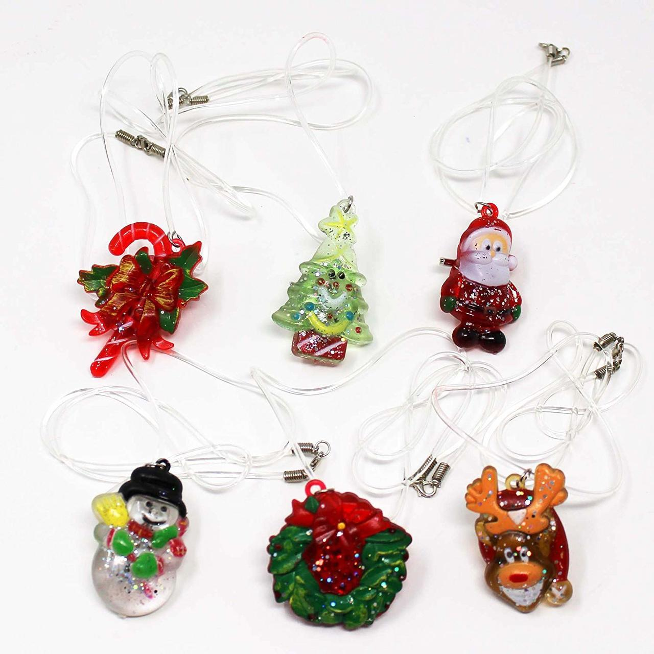 Christmas LED Flash Necklace Sets, 6-Piece Set