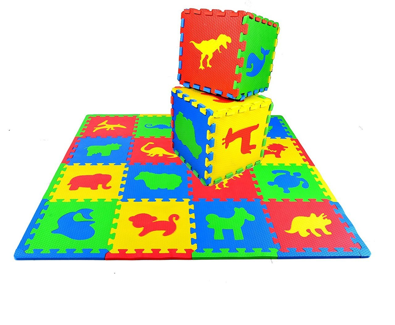 Kid's Puzzle Play Mat 16-Piece Set