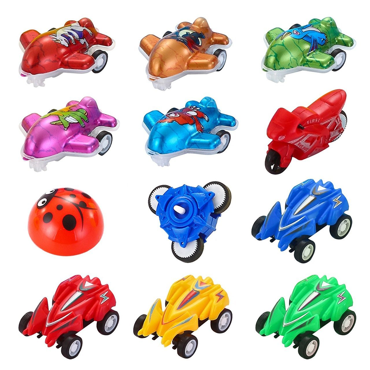 Easter Eggs Pre-Filled with Toy Vehicles, 24-Pack