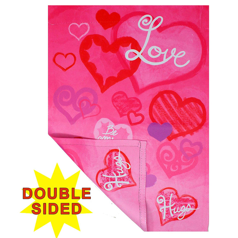 Valentines Day Garden House Flags