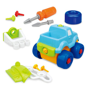Take-apart Train, Truck, Helicopter and Submarine Toys with Electric Screw Drivers