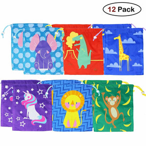 6 Designs Cartoon Gift Bag 12-Pack