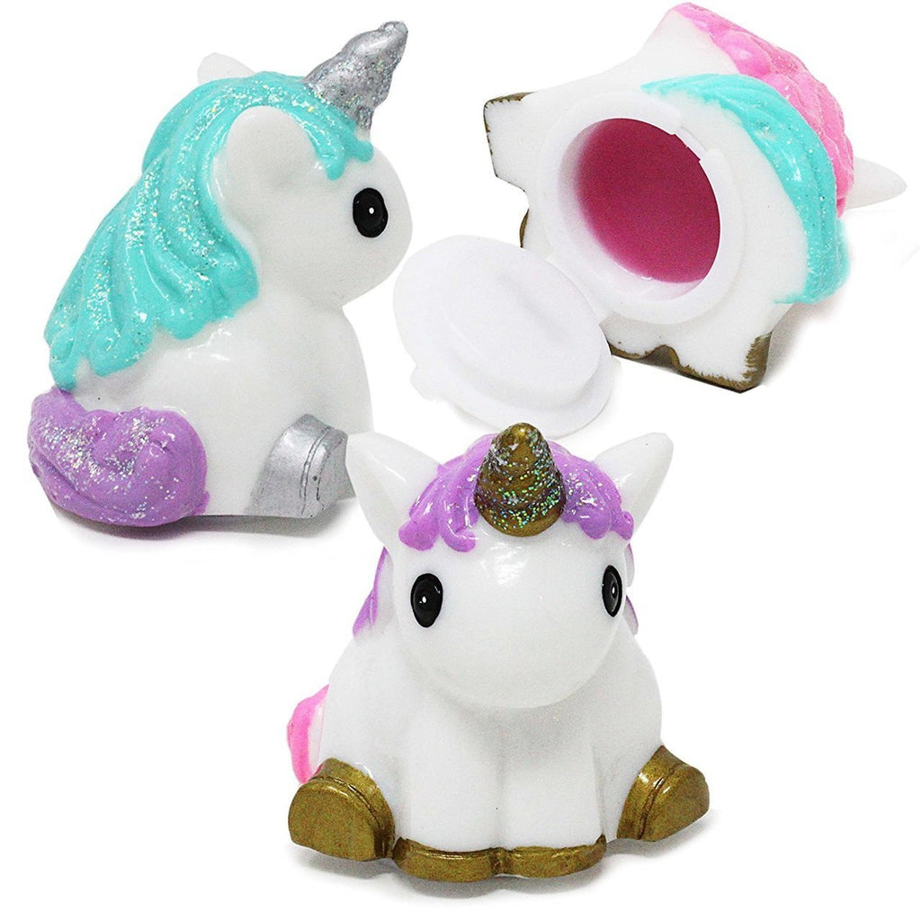 3 Pack Cute Unicorn Shape Lip Gloss Set