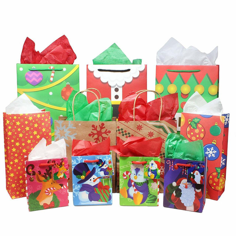 Holiday Tissue Paper Assortment (Three Colors), 180-Piece Set