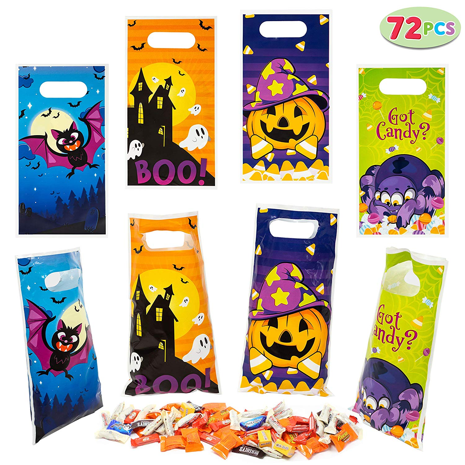72 Pieces Halloween Trick Or Treat Bags