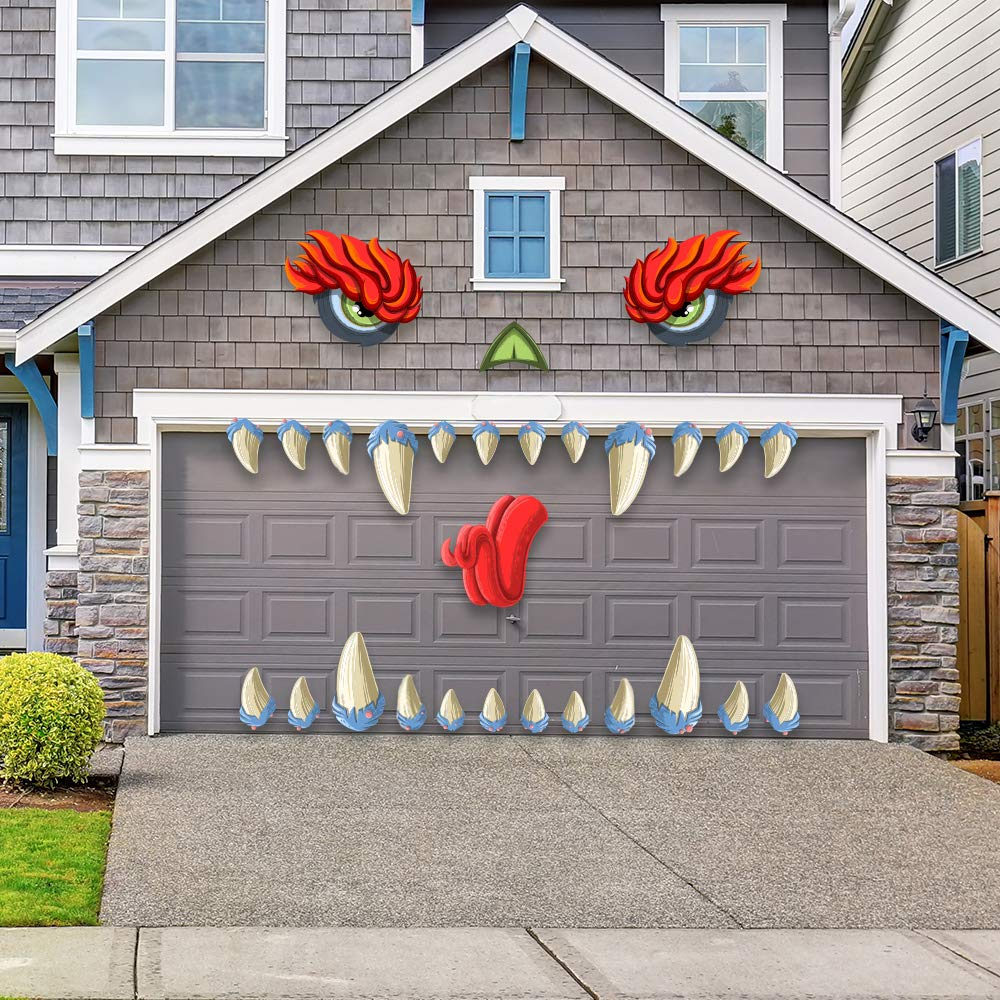 Monster Face Halloween Garage Archway Door Decoration