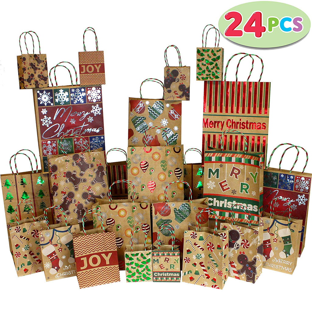 Kraft Gift Bags Assorted Sizes