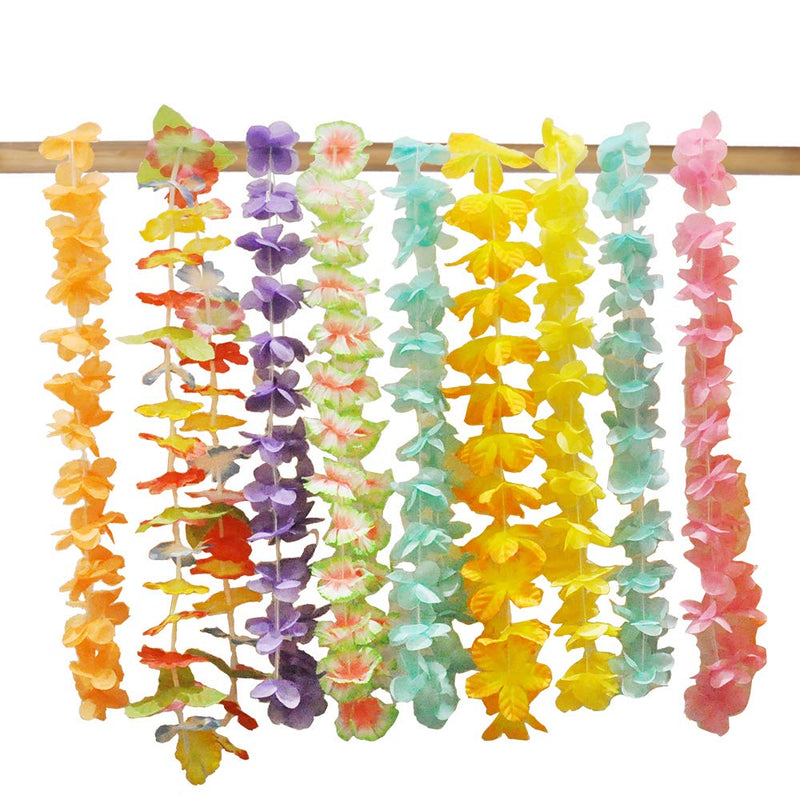 Hawaiian Luau Flower Lei Party Favors (5 Dozen)