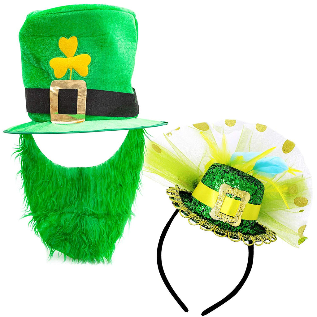 St. Patrick's Day Leprechaun Hat and Beard
