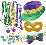 Mardi Gras Accessories, Set of 12