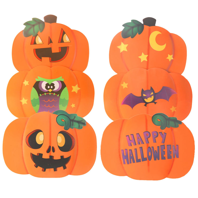 2 Set Metal Halloween Pumpkin & Ghost Yard Signs