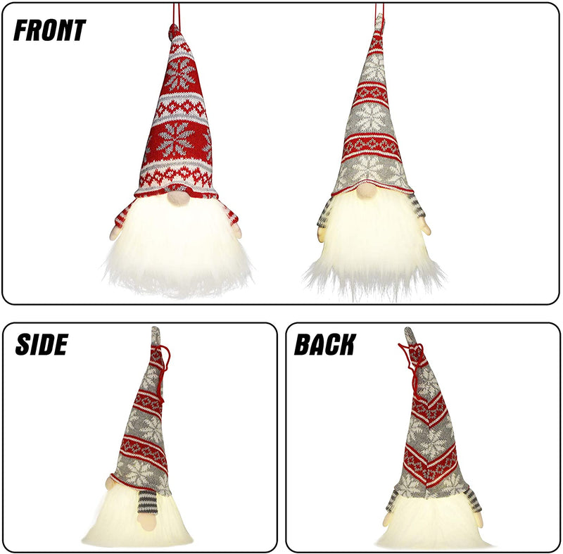 Christmas Light Gnome Swedish Santa Tomte Hanging Ornaments