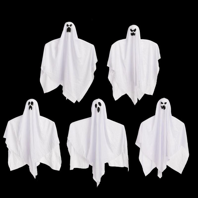 "27.5"" Halloween Hanging Ghosts, 5 Pack"