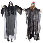 Flying Grim Reaper and Skeleton Pirate Decorations
