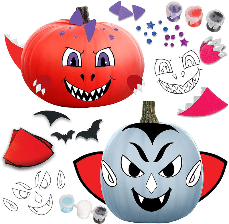 KLEVER KITS - Coloring Pumpkins with 8 Characters