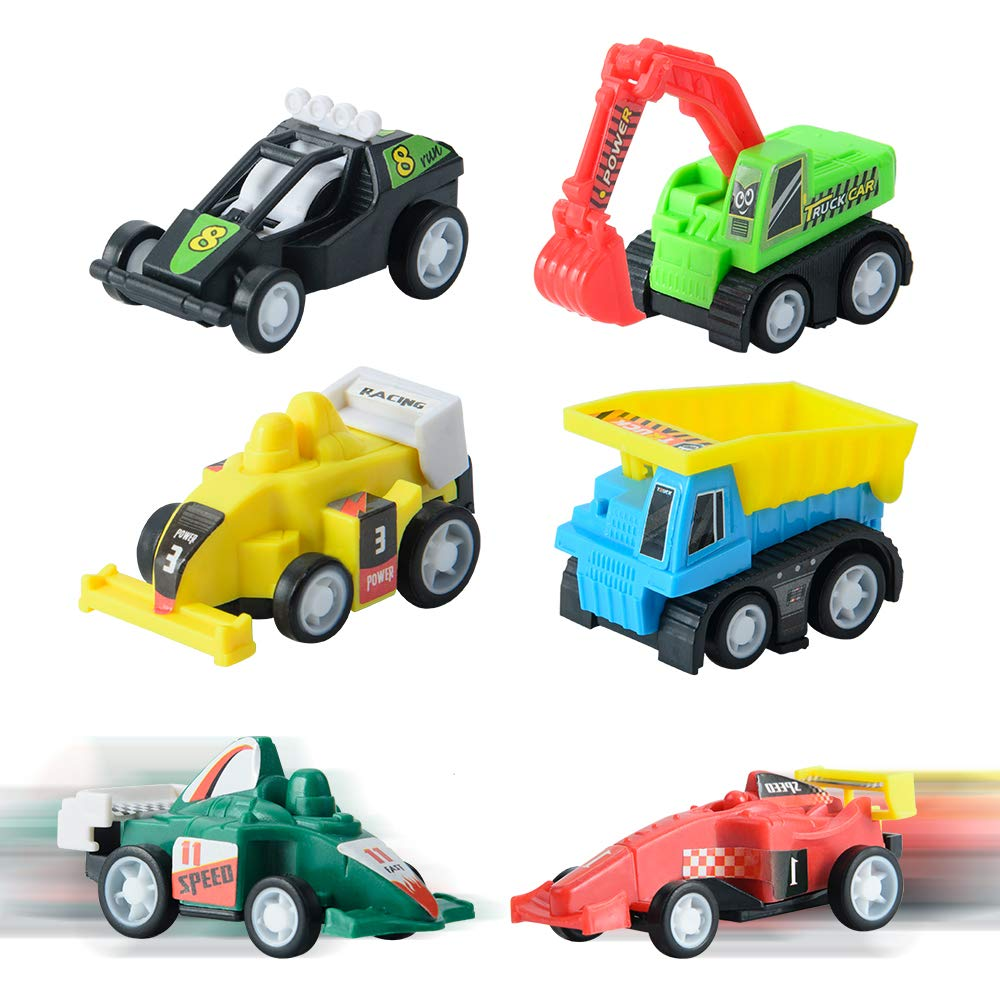Easter Eggs Prefilled with Pull Back Construction Vehicles and Race Cars