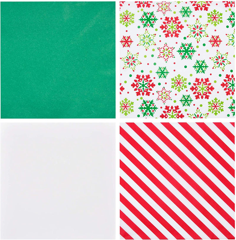 Christmas Tissue Paper w/Hologram & Prints for Gift Decoration and Wrapping