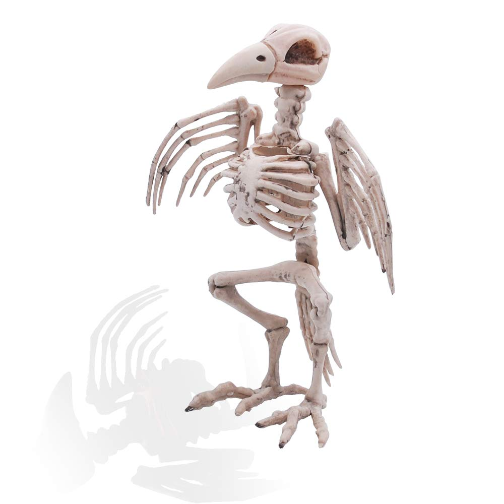 Pose-N-Stay Raven Skeleton Plastic Bones