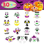 30 Packs Pumpkin Decorating Foam Stickers