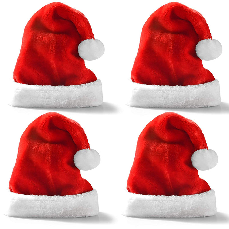 4-PACK CHRISTMAS HATS