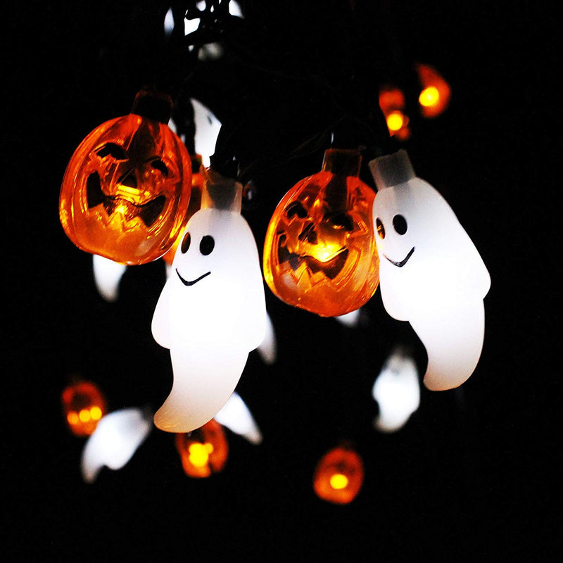 Ghost and Pumpkin LED String Light