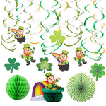 Patrick's Day Colorful Foil Hanging Swirls