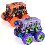 2 Pack Friction Powered Monster School Bus