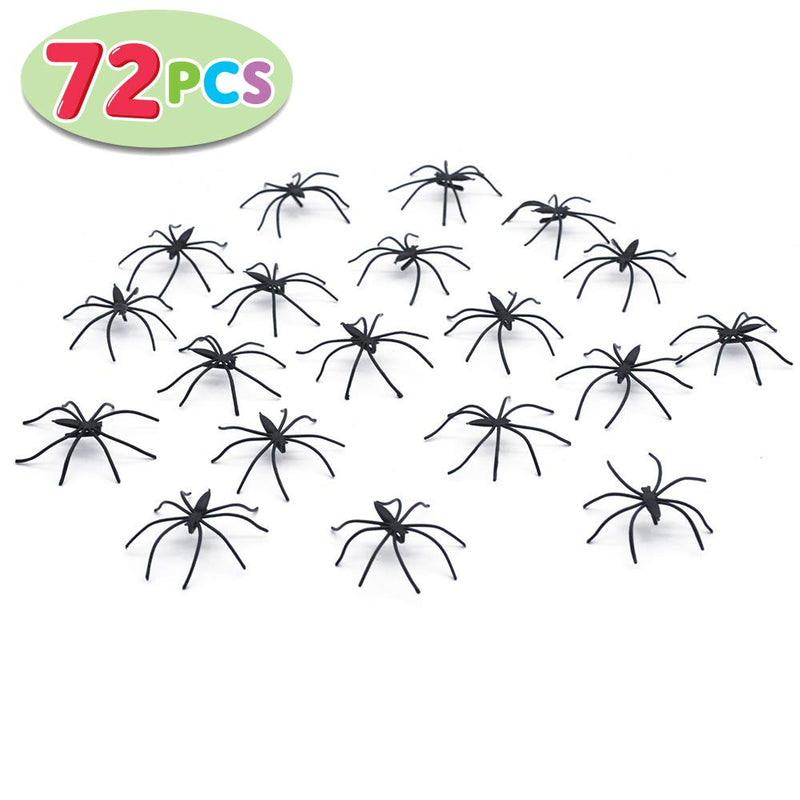 Stretch Spider Web with 72 Fake Plastic Spiders