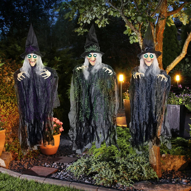 3 Pack Halloween Hanging Witch Decorations