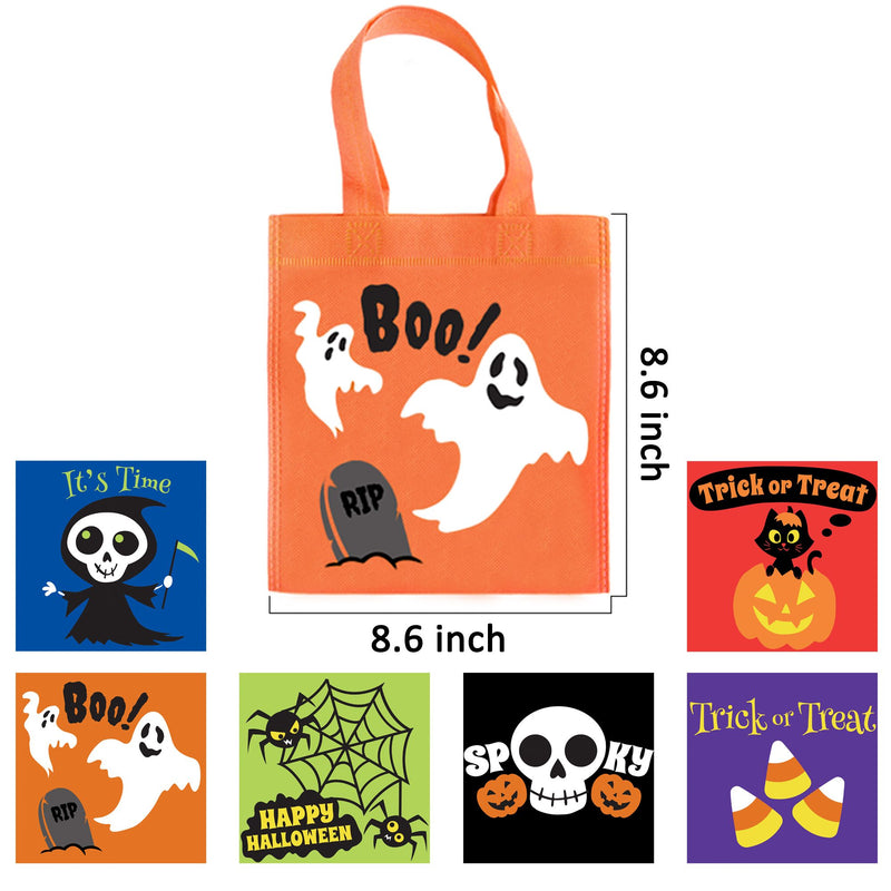 24 Halloween Colorful Non-Woven Tote Bags