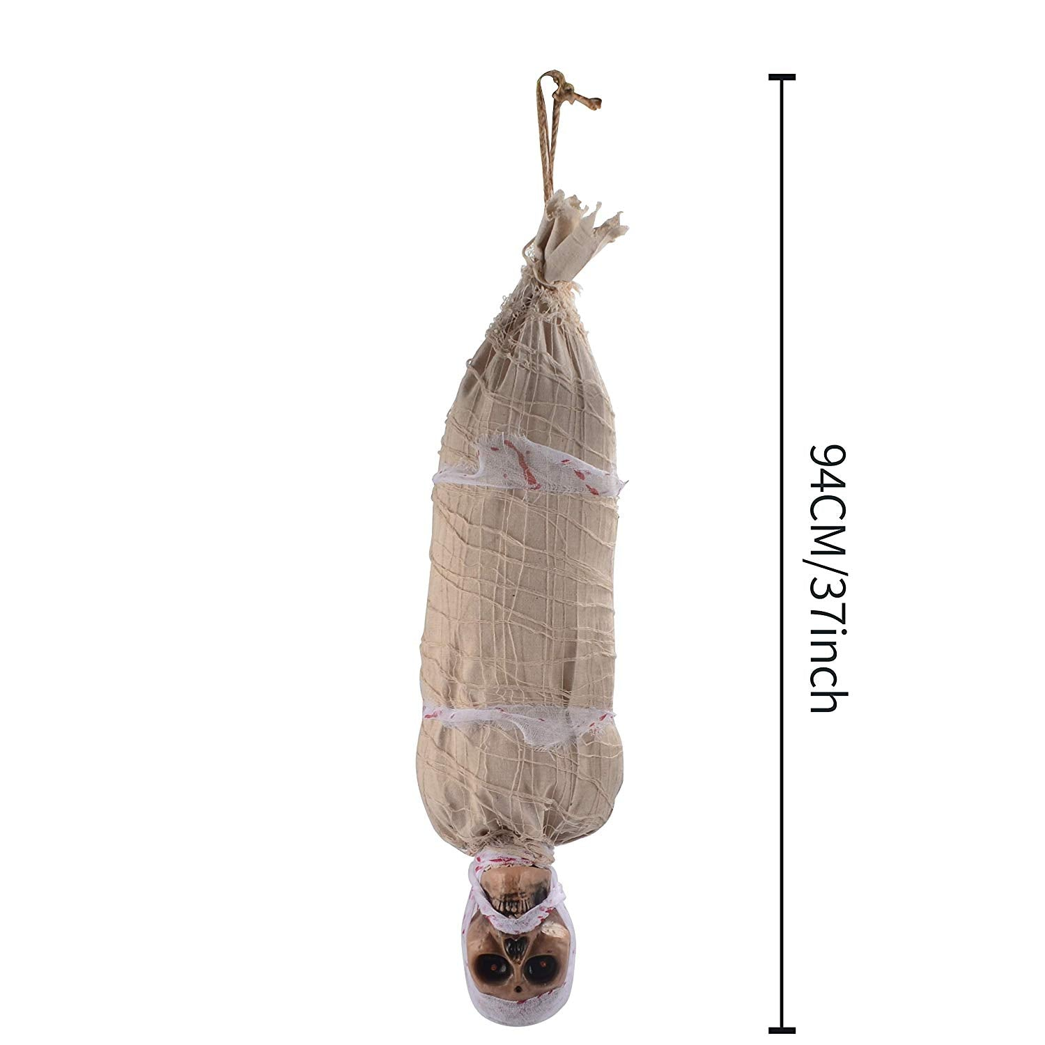 "35"" Light Up Hanging Cocoon Corpse"