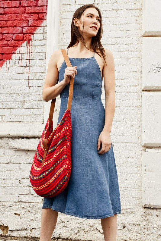 Ready For Red India Artisan Boho Tote Bag