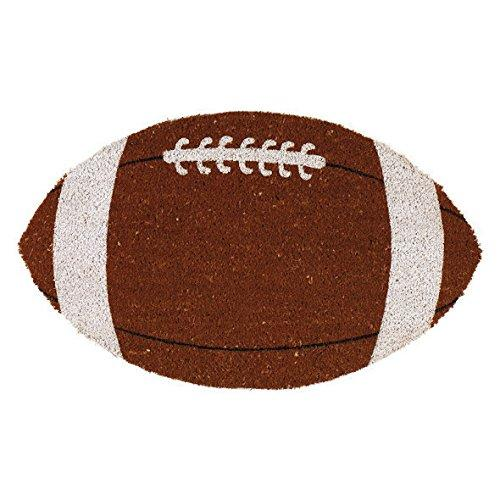Football Shaped Coir Doormat - NovaandKnox.com