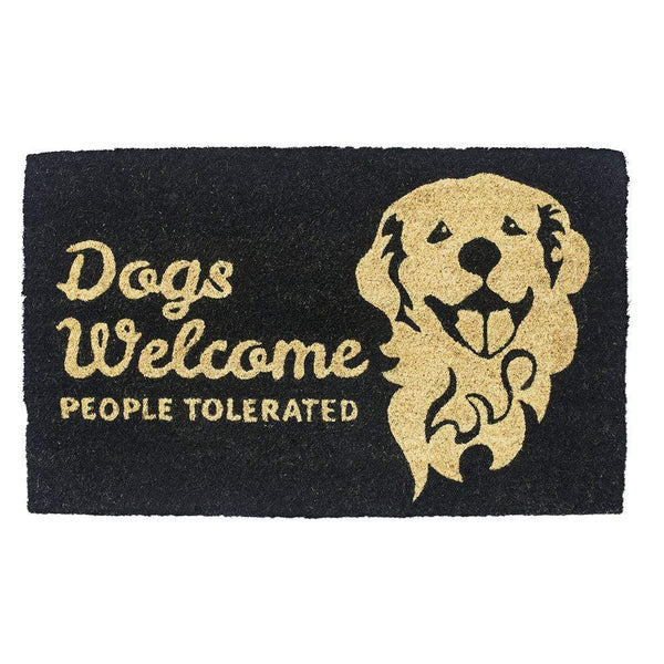 Dogs Welcome Doormat - NovaandKnox.com