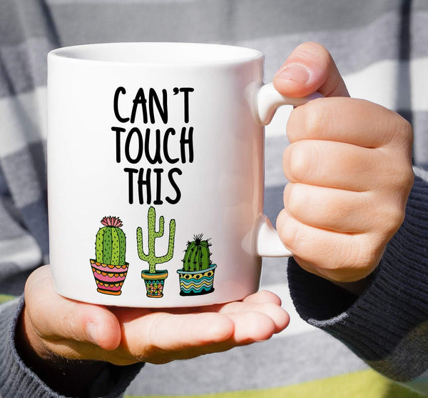 Can't Touch This Cactus Coffee Mug - NovaandKnox.com