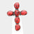 Tribal Red Stone Boho Cross Stretch Ring - NovaandKnox.com