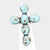 Turquoise Stone Cross Stretch Ring - NovaandKnox.com