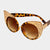 Simone Austrian Crystal Leopard Cat Eye Sunglasses