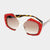 Trendy Red Austrian Crystal Sunglasses - NovaandKnox.com