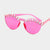 Courtney Austrian Crystal Hot Pink Sunglasses - NovaandKnox.com