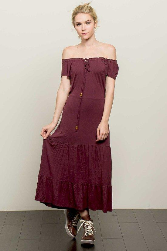 Kira Off Shoulder Boho Maxi Dress - NovaandKnox.com