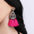Janika Pink Tassel Crystal Boho Earrings - NovaandKnox.com