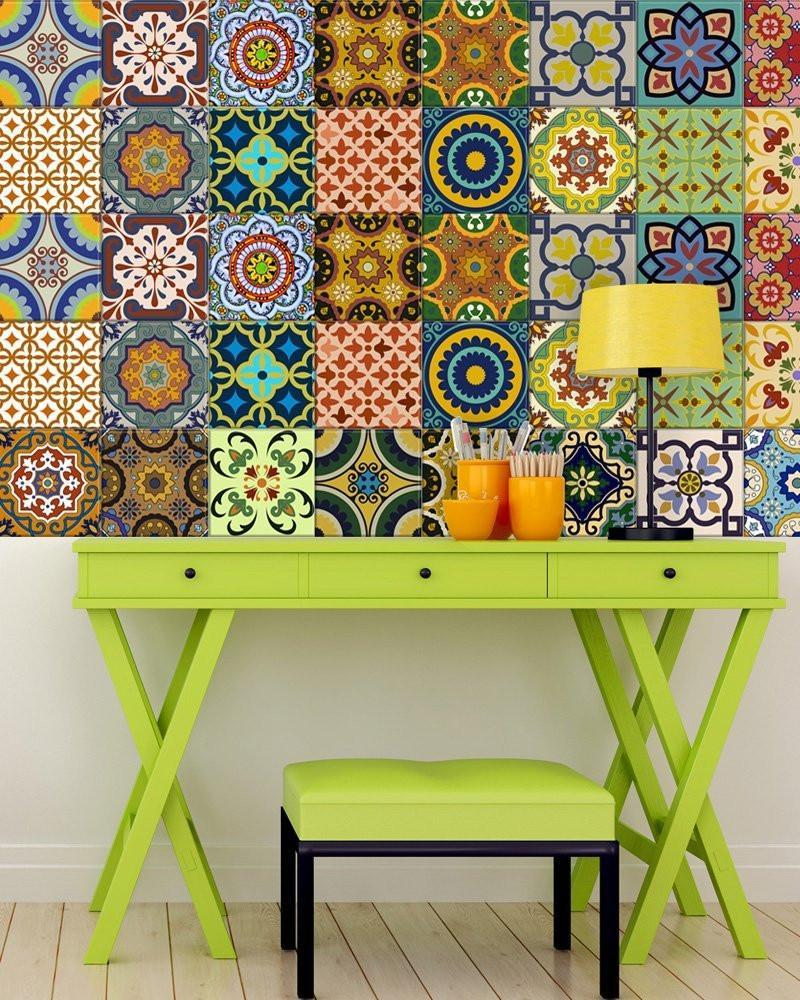 - Moroccan Boho Tile Decals Backsplash Wall Decor Nova & Knox