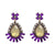 Penelope Purple Statement Earrings - NovaandKnox.com