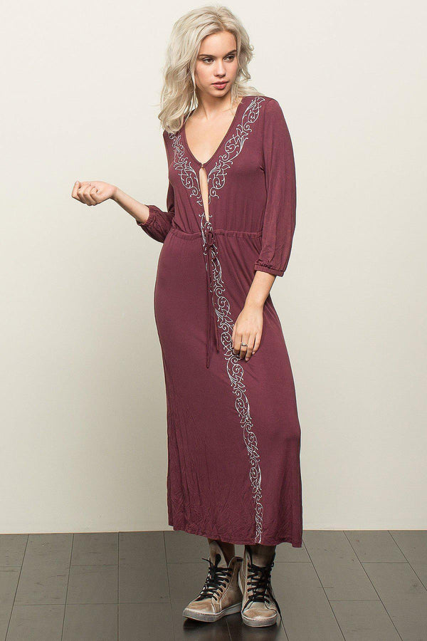 Kaci Embroidered Boho Maxi Dress - NovaandKnox.com