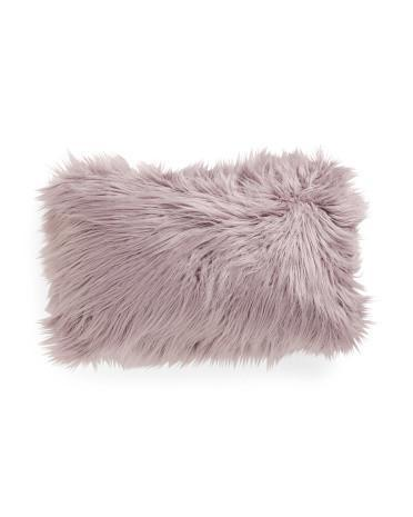 Thro by Marlo Lorenz Purple Fur Throw Pillow - NovaandKnox.com