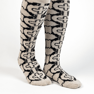 Ivory Horse and Shoe Socks